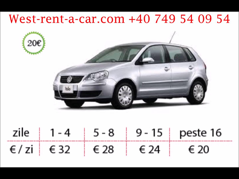 West Rent a Car ofera inchirieri auto in Timisoara