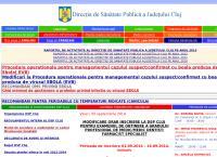 Site Directia de Sanatate Publica Cluj