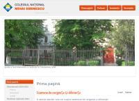 Site Colegiul National Mihai Eminescu Oradea