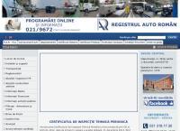 Site Registrul Auto Roman - Botosani