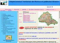 Site Inspectoratul Teritorial de Munca Brasov